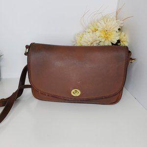 Vintage Brown Coach City Crossbody Bag No. 9790
